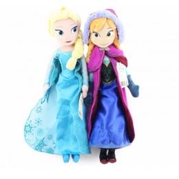 40 cm 2 sztuk/partia Plush Doll Zabawki Unikalne Prezenty Śliczne Dziewczyny Zabawki Księżniczka Anna & Elsa Lalki Dziewczyna Pr