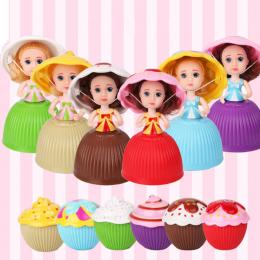 1 pc Mini Cartoon Piękny Cupcake Księżniczka Doll Przekształcona Pachnące Piękne Słodkie Ciasto Doll Toy Dziewczyny Zabawki dla