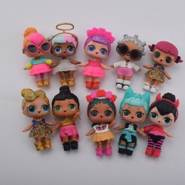 Plastikowe lalki serii 2 ubierać lalki z ubrania akcesoria butelki bez ball