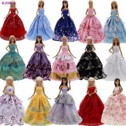 Lot 15 sztuk = 10 Par Butów i 5 Partyjna Suknia Suknia Ślubna Suknia Księżniczka Ładny Strój Ubrania Dla Barbie lalki Dziewcząt