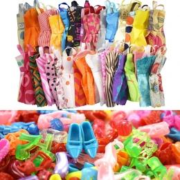 15 poz/Zestaw Lalka Akcesoria = 10 sztuk Różnego Piękne Lalki Ubrania + 5 Buty Fashion Party Kid Prezent zabawki dla Lalka Barbi