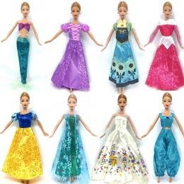 NK Jeden Zestaw Strój Lalki Podobne Snowwhite Anna Kopciuszek Bajka Księżniczka Suknia Ślubna Dla Lalka Barbie