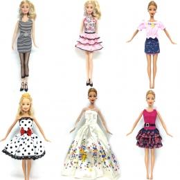 NK 6 Zestaw/partia Gorący Bubel Lalki Stroje Top Dress Party suknia Ubrania Dla lalek Barbie Doll Zabawki Dla Dzieci Najlepsze P