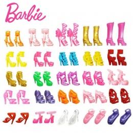 Oryginalny Barbie Mix 20 sztuk-40 sztuk doll house Sandały Dla Decor Doll Toy Dziewczyny Lalki Akcesoria Dom Zabaw party Dziewcz