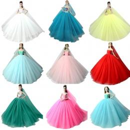 NK Doll Dress High quality Handmade Długi Ogon Suknia Wieczorowa Ubrania Koronki Suknia Ślubna + Veil Dla Lalka Barbie Najlepiej