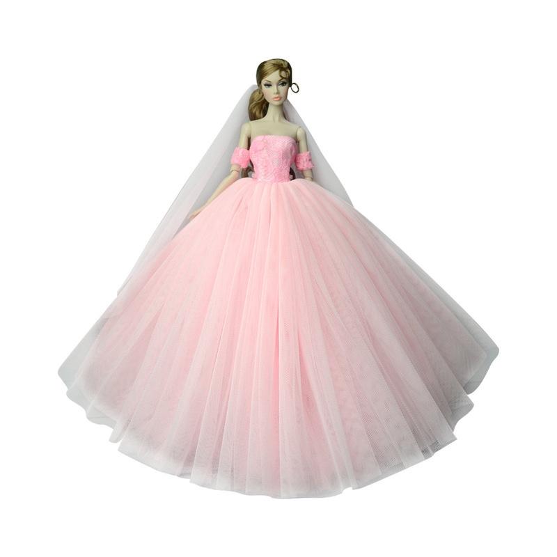 Nk Doll Dress High Quality Handmade Długi Ogon Suknia Wieczorowa