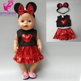 43 cm Zapf Lalki Baby Born spódnica odzież mickey zestawy 18 cal dziewczyny lalki sukienka i opaski