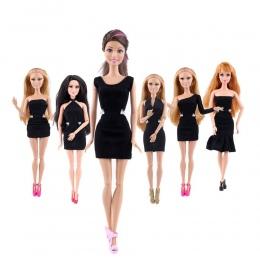 Czarna Spódnica Mini Sukienka Ubrania Dla Lalek Handmade Fashion Party Dress Dla Lalka Barbie Eleganckie Ubrania Dla Lalek