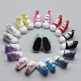 5 pair Mix Assorted 5 cm Brezentowych Butów Dla BJD Lalki Mody Mini Zabawki Lalki Bjd Buty Buty Sneaker dla Russian Doll akcesor