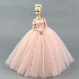 Sukienka + Welon/Różowy Lace Dress Party Wieczór Suknia Bubble spódnica Odzież Outfit Akcesoria Do 1/6 BJD Xinyi FR ST Lalka Bar