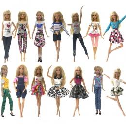 NK Jeden Zestaw Mody Oryginalne Lalki Spódnica Piękna Handmade Party Outfit Handmade Niebieski Sukienka Dla Barbie Oryginalne La