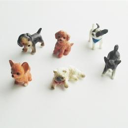 6 sztuk/partia symulacji kot i pies Dollhouse Miniaturowy Model Doll House Dekoracji Prezent Lalki Akcesoria 1:12 skala