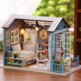Dom dla lalek DIY Dollhouse Miniaturowe Modelu Zabawki Drewniane Meble Casa De Boneca Domów Lalek Zabawki Prezent Urodzinowy Las