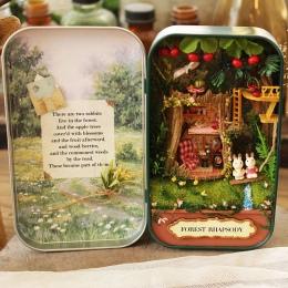 Pole Teatr Las rhapsody Doll House 3D Mini DIY Dekoracji Mebli Dollhouse Miniaturowe Drewniane Puzzle Zabawki na Prezent Urodzin