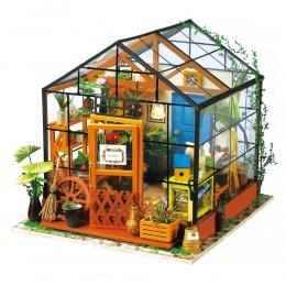 Robotime Miniaturowe Lalki Dom DIY Kathy's Zielony Ogród z Meble Dzieci Dorosłych Modelu Budynku Zestawy Dollhouse DG104