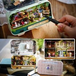Box Theatre DIY Model Doll House Miniatury Meble Drewniane Miniaturowe Dollhouse Miniatures Zabawki Dla dzieci Wsi Notatki