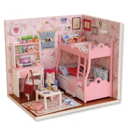 Handmade Doll House Meble Miniatura Diy Doll Dollhouse Miniaturowe Domy Drewniane Zabawki Dla Dzieci Dorośli Prezent Urodzinowy