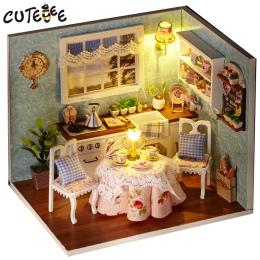 Handmade Doll House Meble Miniatura Diy Domów Lalek Miniaturowy Domek Dla Lalek Zabawki Drewniane Dla Dzieci Dorośli Prezent Uro