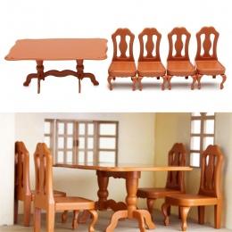 DIY Meble Miniatura Miniatury Meble Stoły Krzesła Zestawy Dla Mini Domek dla Lalek Zabawki Prezenty Dla Dzieci Dorosłych