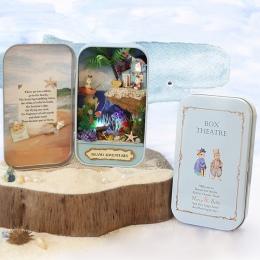 Wyspa Przygód Okno theater DIY Mini Meble Dollhouse Miniaturowe Lalki 3D Drewniane Puzzle Handmade Wystrój Kolekcja Prezent Zaba