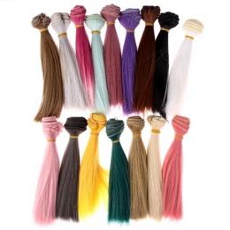 1 sztuk 15*100 cm Lalki Akcesoria Prosto Synthetic Fiber Wig Włosów Dla Lalki Peruki Wysokiej temperatury Drutu