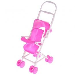 Różowy Baby Wózek dla Lalka Barbie Zabawki Dla Niemowląt Dzieci Przewóz Wózek Wózek Przedszkole Zabawki dla Lalek Barbie Meble D