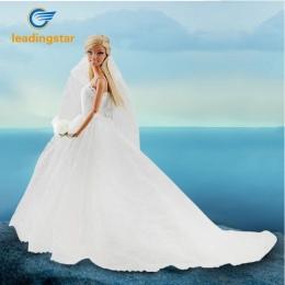 LeadingStar Suknia Ślubna dla Lalka Barbie Księżniczka Wieczorne Party Ubrania Nosi Długa Sukienka Outfit Set dla Lalka Barbie z