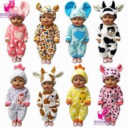 43 cm Zapf lalki Baby born ubrania kreskówki zestaw dla 18 cal american girl doll cute zwierząt ubrania