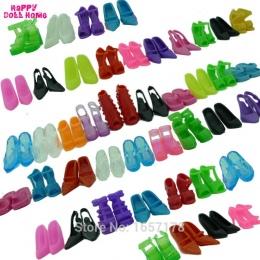 12 Pairs Mieszane Moda Kolorowe Wysokie Obcasy Sandały Akcesoria Dla Lalka Barbie Buty Sukienka Ubrania Prop Dziewczyna Dla Dzie