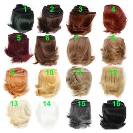 1 szt 5 cm czarny biały brązowy kolor prosto doll włosów dla 1/3 1/4 BJD lalki diy włosów