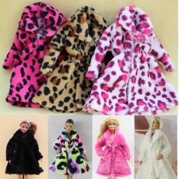 15 typu Wysokiej Jakości Mody Handmade Ubrania Sukienki Rośnie Strój Flanelowe płaszcz dla Lalka Barbie sukienka dla dziewczyn n