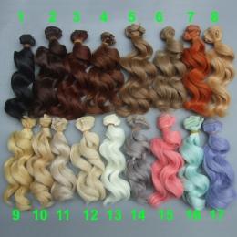 15 cm wysoka temperatura wielka fala handmade tkaniny lalki peruki diy Texitle lalki curl włosy