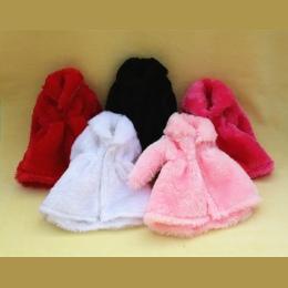 12 Kolory Wysokiej Jakości Mody Handmade Ubrania Sukienki Rośnie Outfit Flanelowe płaszcz dla Lalka Barbie dress for girls najle