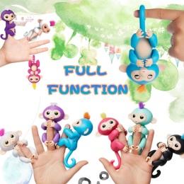 Szczęśliwy małpa paczka Palec dziecko Małpa Wzrosła Interaktywne Dziecko Zwierzę Inteligentne Zabawki małpa Małpa Inteligentne E