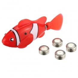 10 kolory Battery Powered Toy Robo Aktywowane Robotic Elektroniczny Fish Zwierzęta Śliczne Zabawa Robofish Wsparcie Drop Shippin