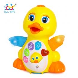 HUILE TOYS 808 Dziecko Zabawki EQ Trzepotanie Żółta Kaczka Niemowląt Brinquedos Bebe Elektryczne Uniwersalny Zabawki dla Dzieci