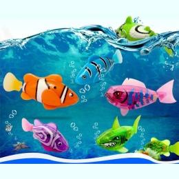 4 Śmieszne Pływać części/partia Elektroniczny Robofish Aktywowane Battery Powered Toy Robo fish Robotic Pet do Łowienia Ryb Zbio
