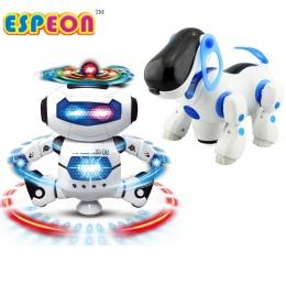 Nowy Smart Przestrzeni Tańca Walking Robot Pies Elektroniczne Zabawki Z Muzyką Astronauta światła Boże Narodzenie Nowy Rok Preze