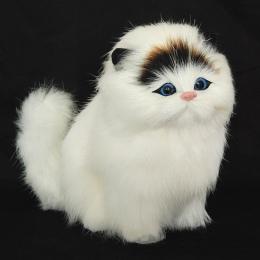 Prawdziwe włosy Zwierzęta Elektroniczne Koty Lalki Symulacji zwierząt zabawka dla kota meowth dla dzieci słodkie zwierzątko plus