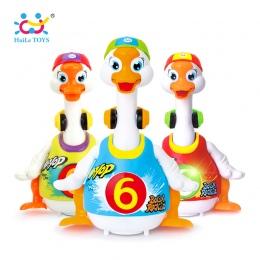 HUILE TOYS 828 Dziecko Zabawki Elektryczne Hip Pop Taniec Przeczytać i Powiedz Story i Interaktywna Swing Goose Dzieci Nauka Edu