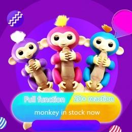 Szczęśliwy Małpa małpa paczka 6 Kolor Zabawki Interaktywne Smart Indukcyjna dzieci zabawki dla zwierząt dla dzieci palec Palec d