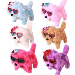 1 pc Słodkie Elektroniczny Pies Zabawki Szybka Dostawa Nowy Akumulator Zasilany Stali Kolorowe Plush Walking Barking Urodziny Za