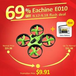 New Arrival Eachine E010 Mini 2.4g 4CH 6 Osi 3D Bezgłowy Tryb Pamięci Funkcja RC Quadcopter RTF RC Tiny prezent Obecne Dzieciak