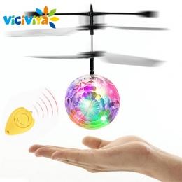 EpochAir VICIVIYA RC Zabawki RC Piłki Latające RC Drone Helikopter Ball Wbudowany Z Błyszczącymi LED Oświetlenie dla Dzieci