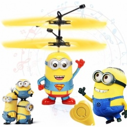 Minion drone RC Helicopter Samolot Mini drone Fly Miga helikopter Ręcznego Sterowania RC Zabawki Minion Quadcopter Dron LED Zaba