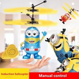 Minion Fly Miga helikopter Ręcznego Sterowania RC Zabawki Minion Helikopter Quadcopter Drone Ar. drone z LED