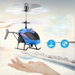 Mini Rc Helicopter Radio Pilot Samolotu Kanałowy Micro Drone świecenia led latający Indukcja samoloty dla Dzieci Prezent