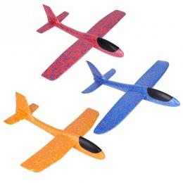 49 cm Mini Pianki Rzucanie Latający Samolot Samolot Ręcznie Uruchom Darmowa Latać Samolot Rzut Ręka Samolot Puzzle Modelu Zabawk