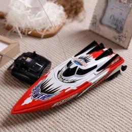 Nowy Przyjazd Zdalnego Sterowania Drogą Radiową Twin Silnik High Speed Boat RC Racing Odkryty Czerwony/Zielony