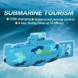 Flytec wodoodporna rc statek rc submarine z usb charge i klucz do nurkowania 50 cm Micro Pilot statku zabawki dla dzieci prezent